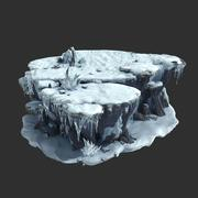 雪の岩01 3d model