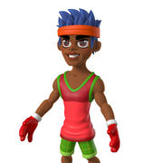 Cartoon athlete 3d model