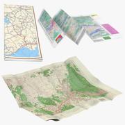 Raccolta mappe 3d model