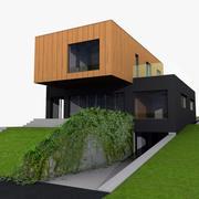 Hedendaags familiehuis 3d model