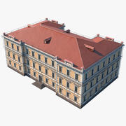 Modulair gebouw 3d model