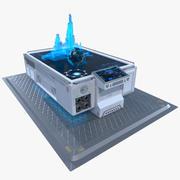Mesa de holograma de ciencia ficción modelo 3d