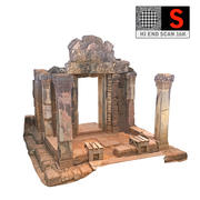 Gate Red Temple 16K 3d model