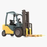 Simple Warehouse Forklift 3d model