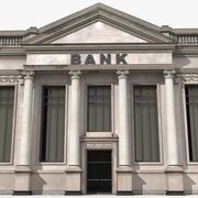 Bank Building 3D Model 3d model