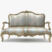 Canapé de luxe _ 029 3d model