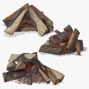 Coleção Fire Wood and Coals 3d model