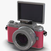 Panasonic DMC GF7 Rigged Pink 3D Model 3d model