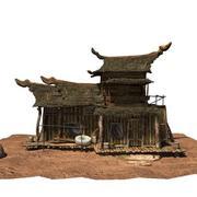 maison en bois 01 tex 3d model