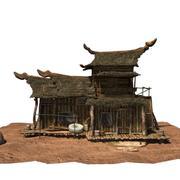 ウッドハウス01 tex 3d model