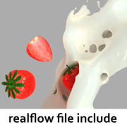 splash strawberry realflow 3d model