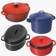 4 Pans Collection 3d model