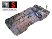 고대 강바닥 3d model