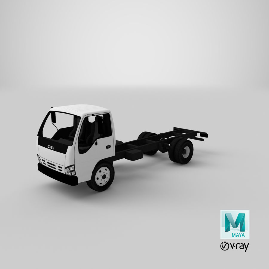 Isuzu NQR 75 royalty-free 3d model - Preview no. 18