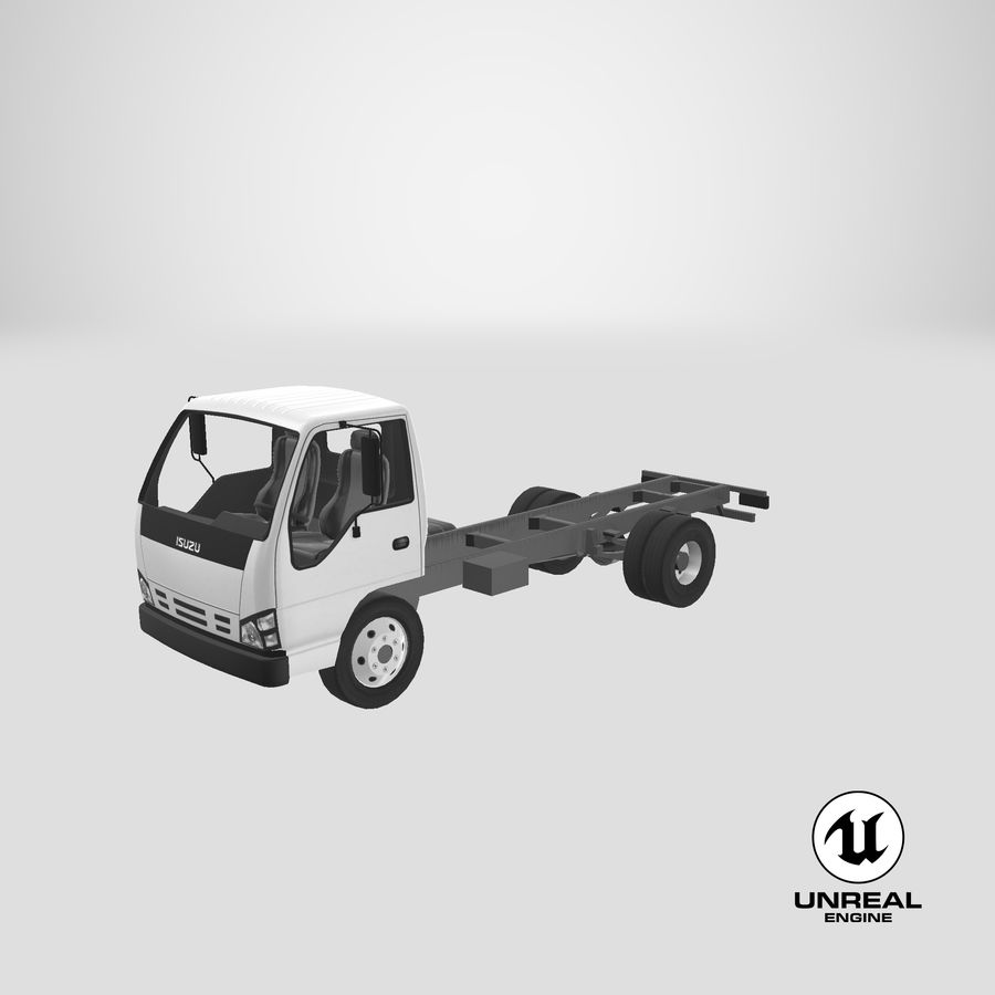 Isuzu NQR 75 royalty-free 3d model - Preview no. 22