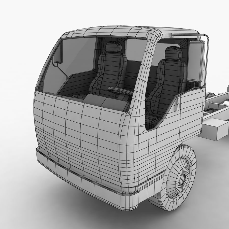 Isuzu NQR 75 royalty-free 3d model - Preview no. 15