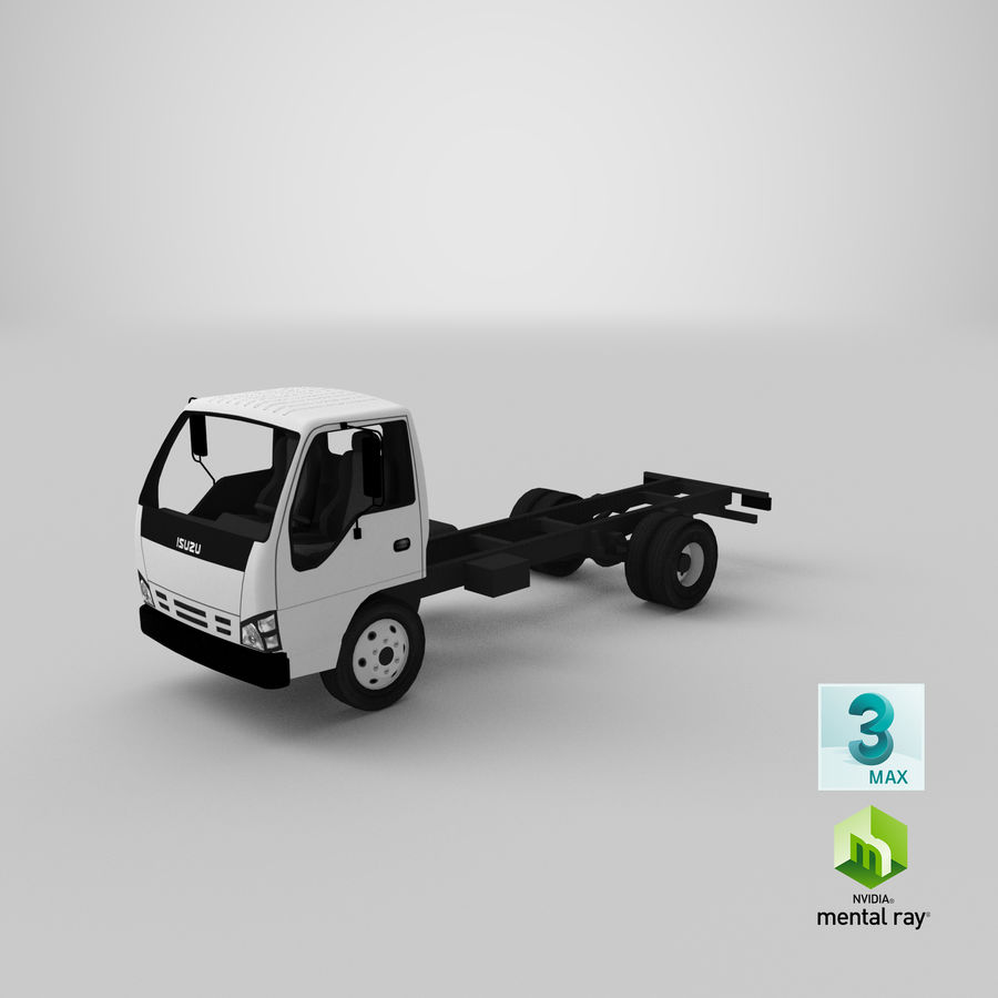 Isuzu NQR 75 royalty-free 3d model - Preview no. 21