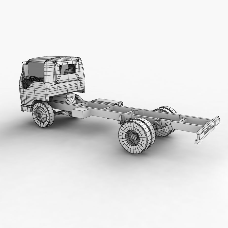 Isuzu NQR 75 royalty-free 3d model - Preview no. 14