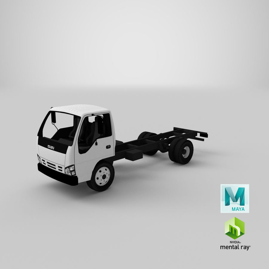 Isuzu NQR 75 royalty-free 3d model - Preview no. 19