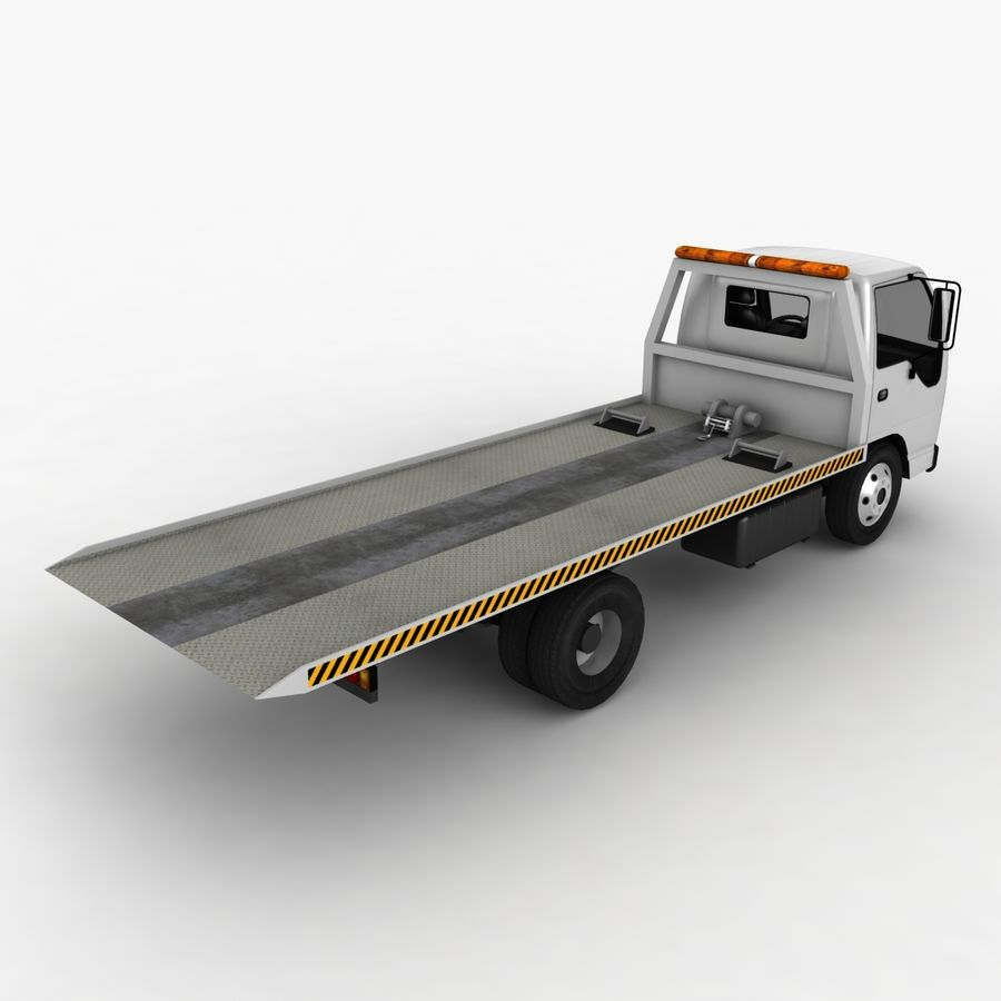 Isuzu Tow Truck royalty-free 3d model - Preview no. 6