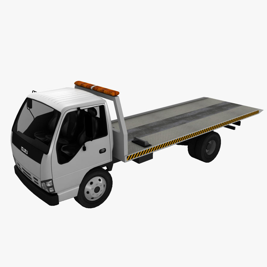Isuzu Tow Truck royalty-free 3d model - Preview no. 1
