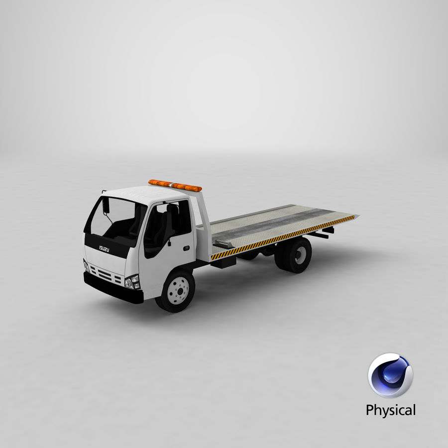 Isuzu Tow Truck royalty-free 3d model - Preview no. 25