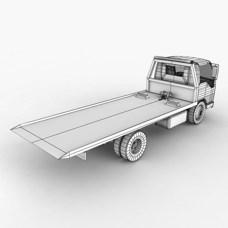 Isuzu Tow Truck royalty-free 3d model - Preview no. 13