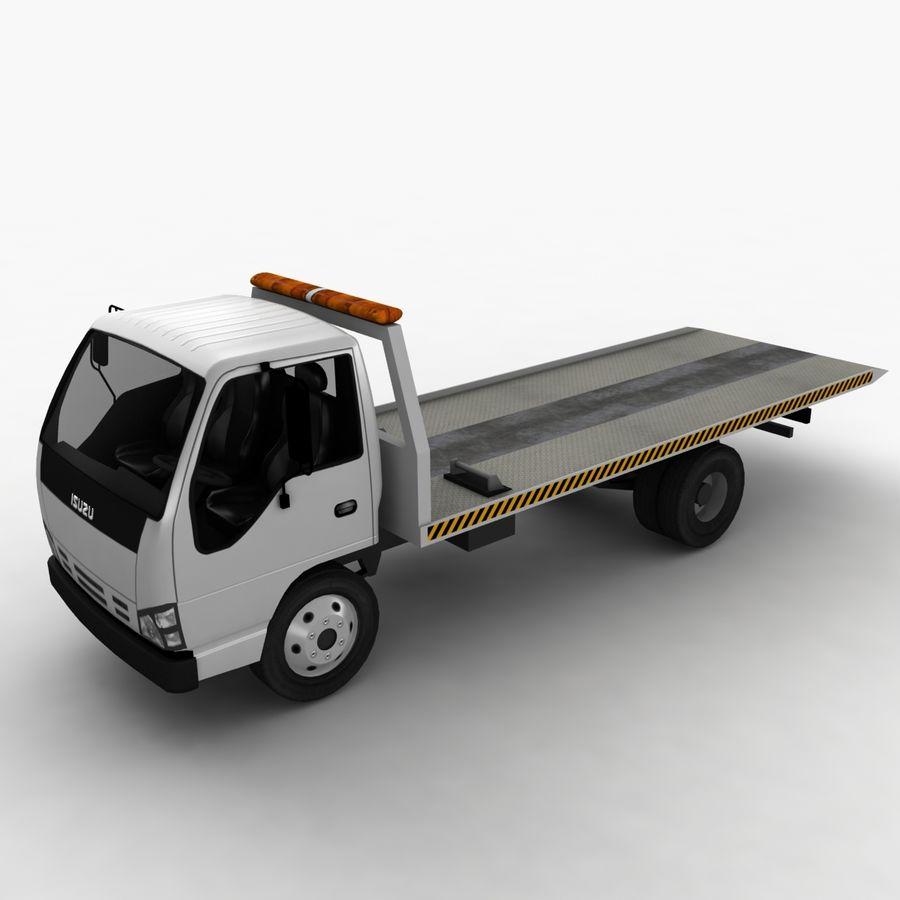 Isuzu Tow Truck royalty-free 3d model - Preview no. 2