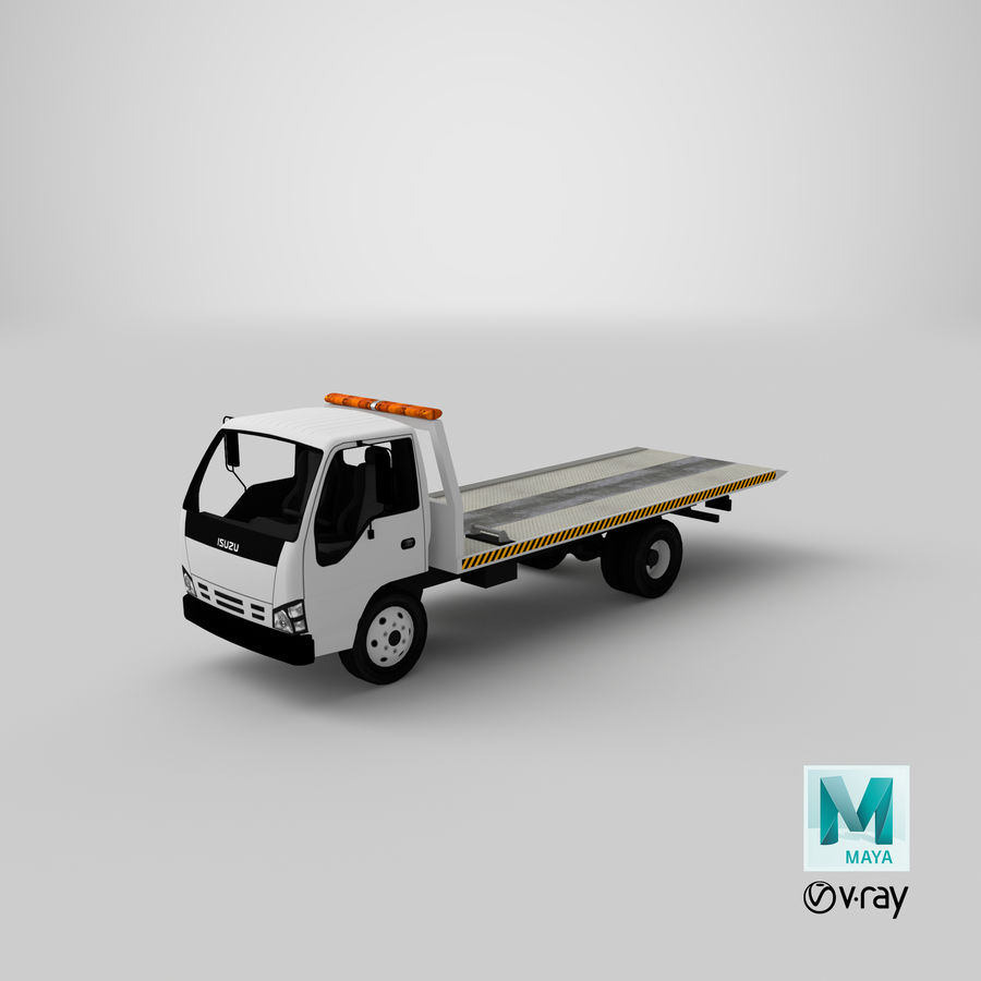 Isuzu Tow Truck royalty-free 3d model - Preview no. 19
