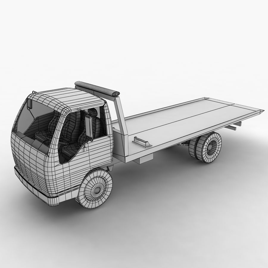Isuzu Tow Truck royalty-free 3d model - Preview no. 3