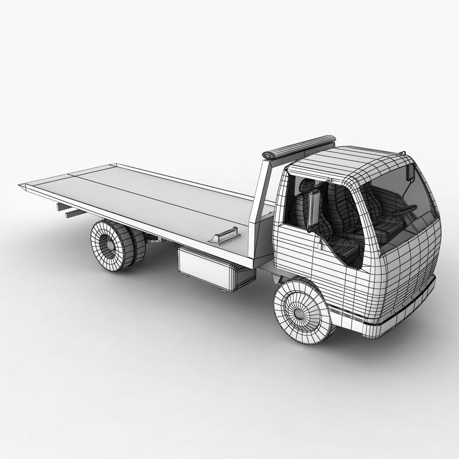 Isuzu Tow Truck royalty-free 3d model - Preview no. 12