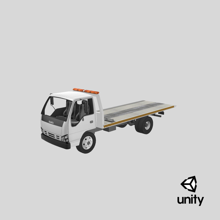 Isuzu Tow Truck royalty-free 3d model - Preview no. 24