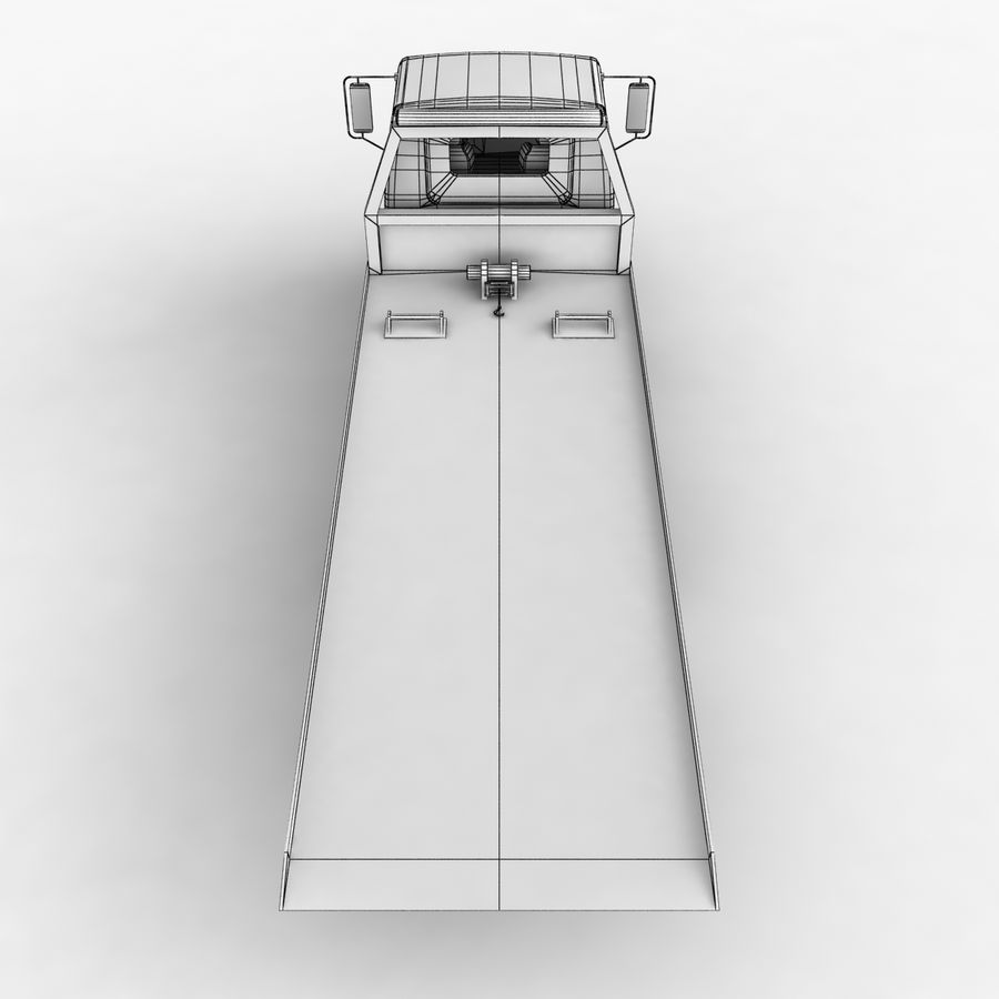 Isuzu Tow Truck royalty-free 3d model - Preview no. 17