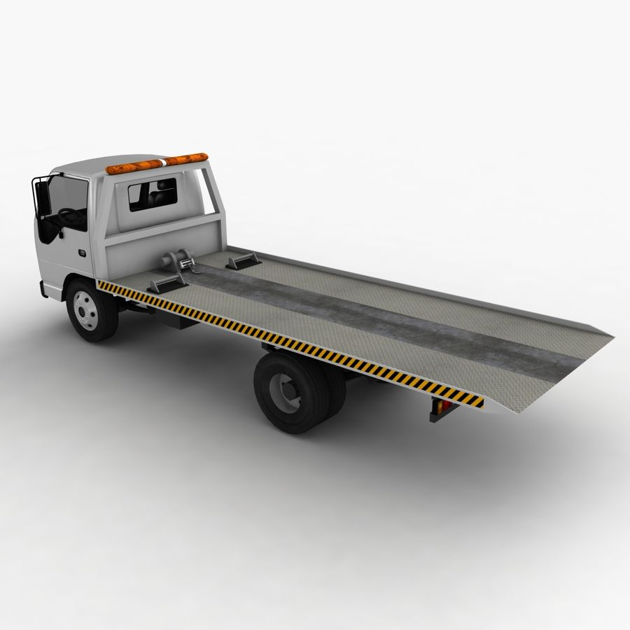 Isuzu Tow Truck royalty-free 3d model - Preview no. 7