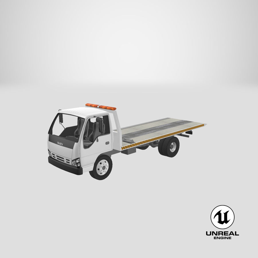 Isuzu Tow Truck royalty-free 3d model - Preview no. 23