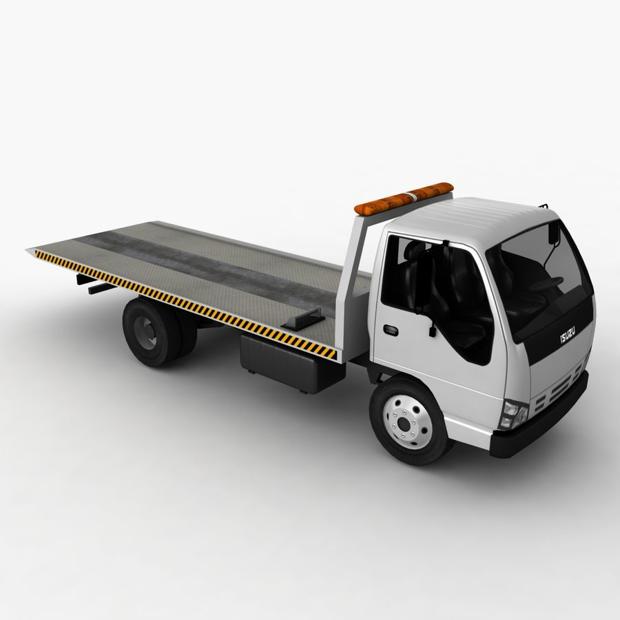 Isuzu Tow Truck royalty-free 3d model - Preview no. 5