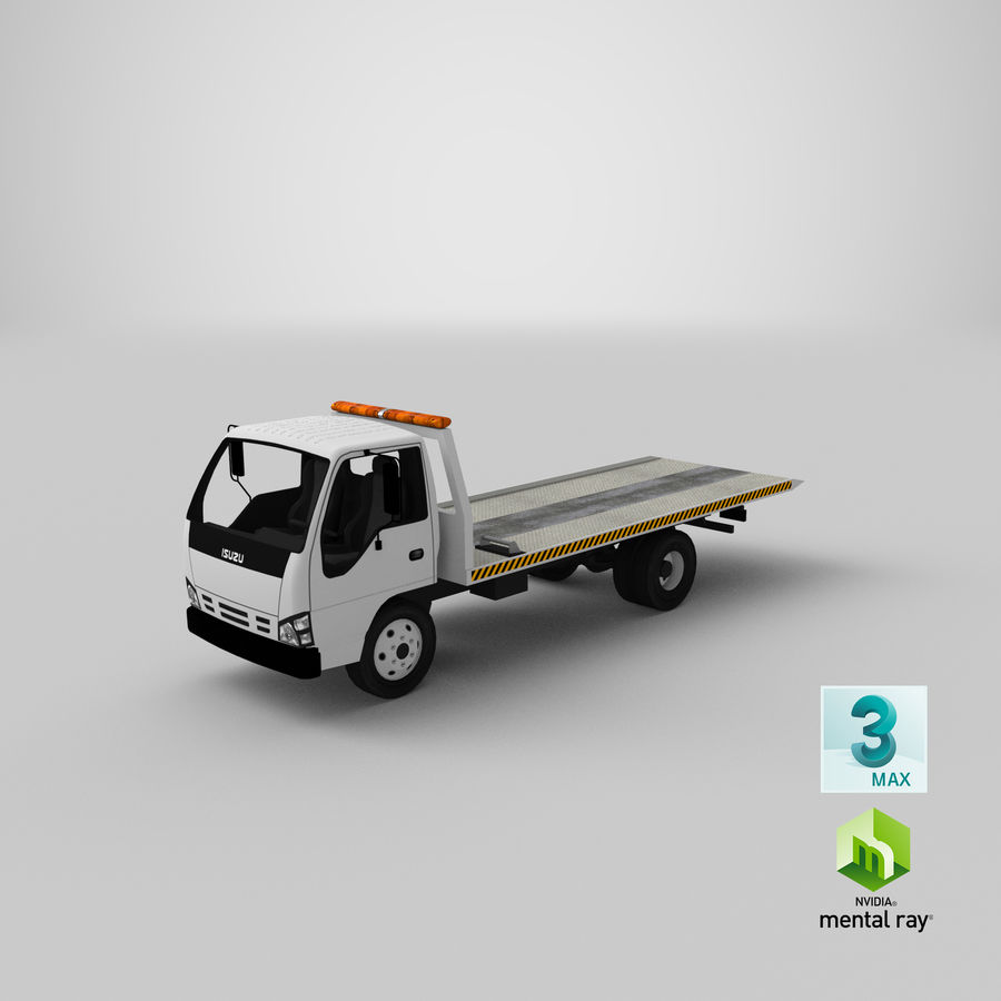 Isuzu Tow Truck royalty-free 3d model - Preview no. 22