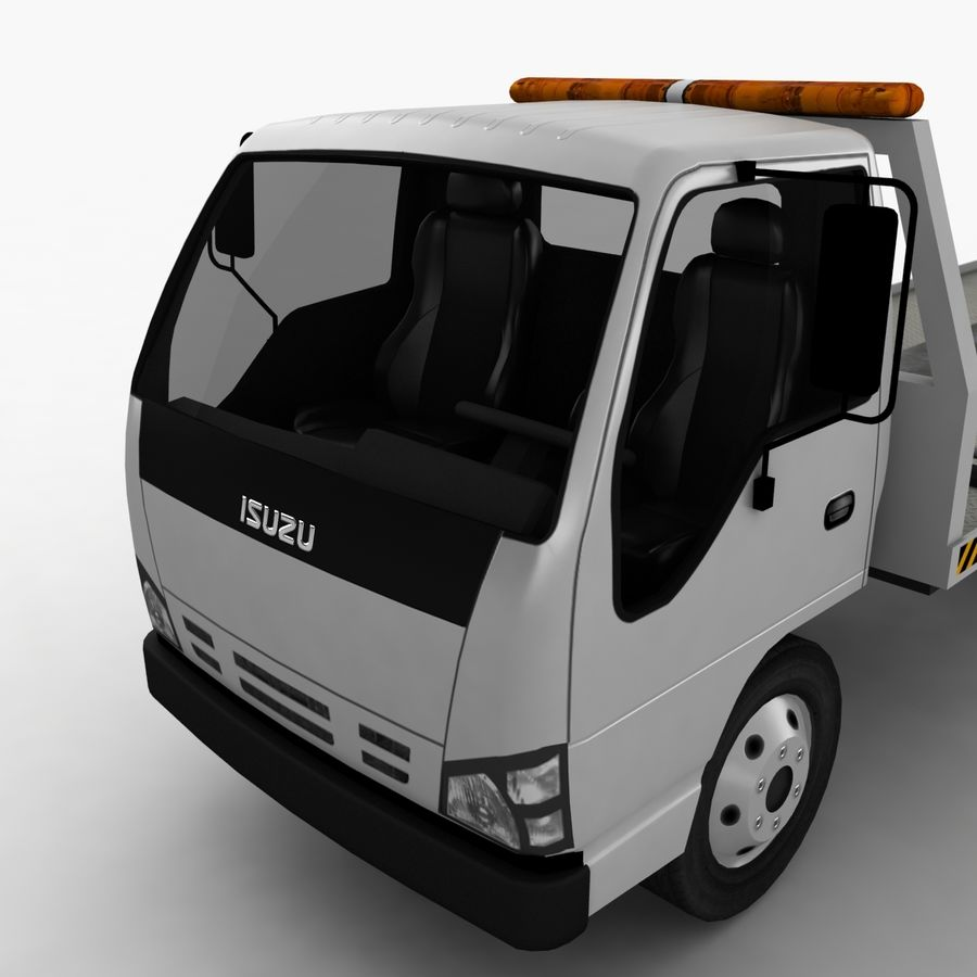 Isuzu Tow Truck royalty-free 3d model - Preview no. 8