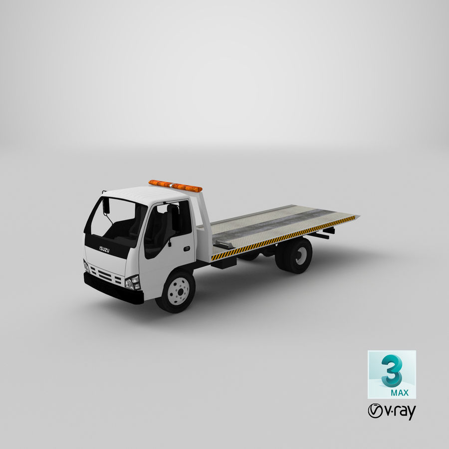 Isuzu Tow Truck royalty-free 3d model - Preview no. 21