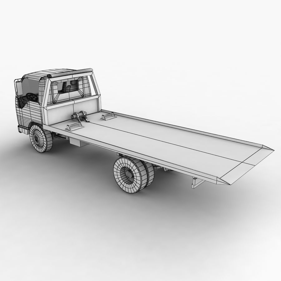 Isuzu Tow Truck royalty-free 3d model - Preview no. 14