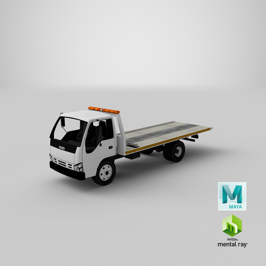Isuzu Tow Truck royalty-free 3d model - Preview no. 20