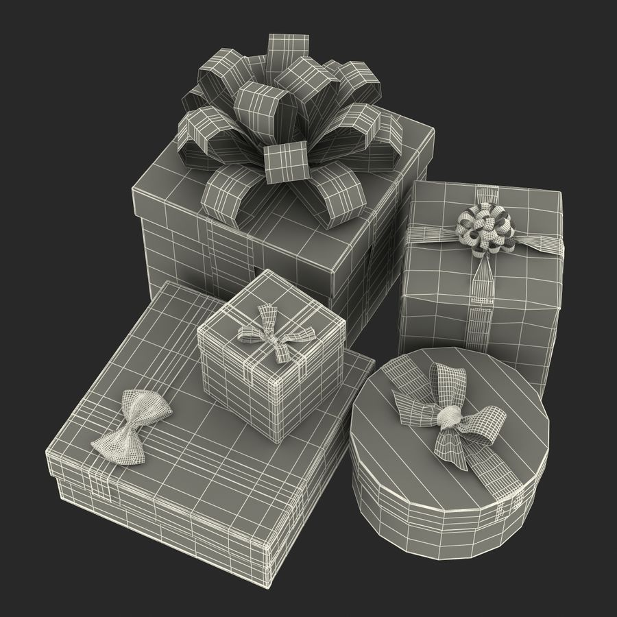 Geschenkboxen-Auflistung royalty-free 3d model - Preview no. 60