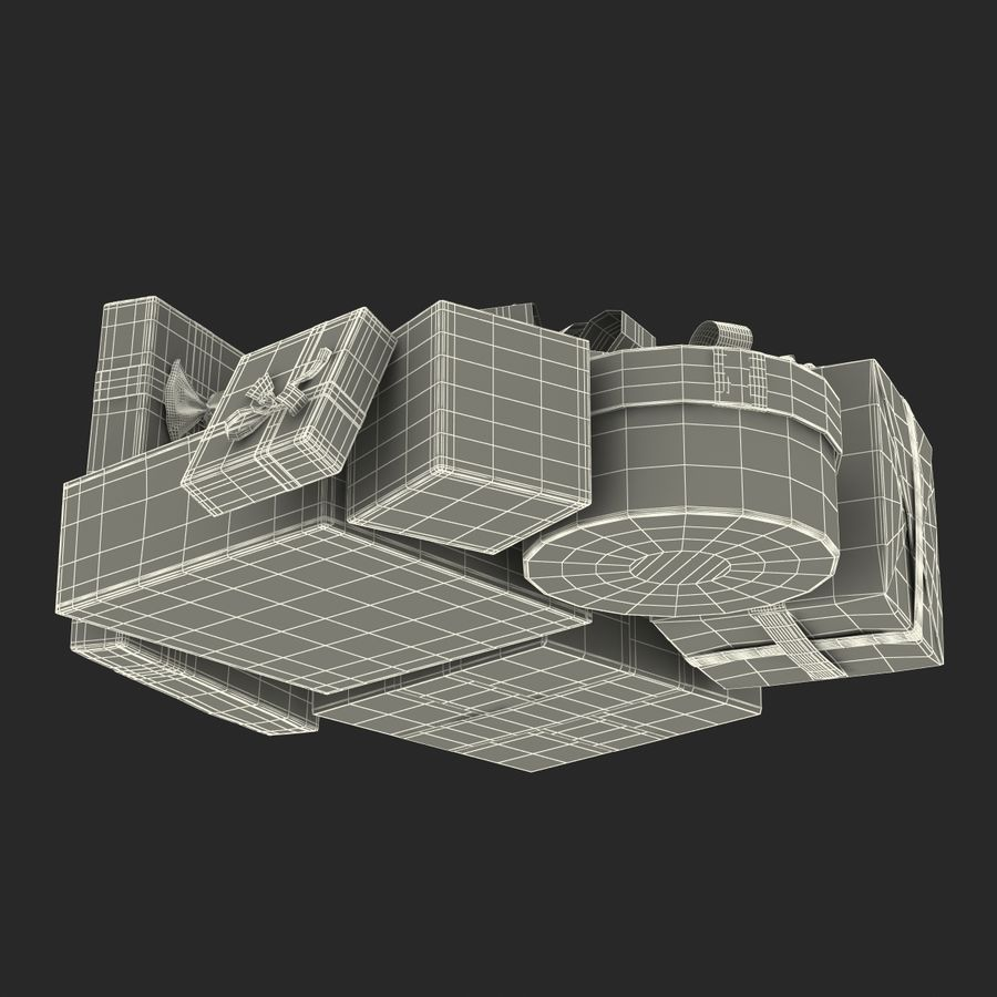 Geschenkboxen-Auflistung royalty-free 3d model - Preview no. 62