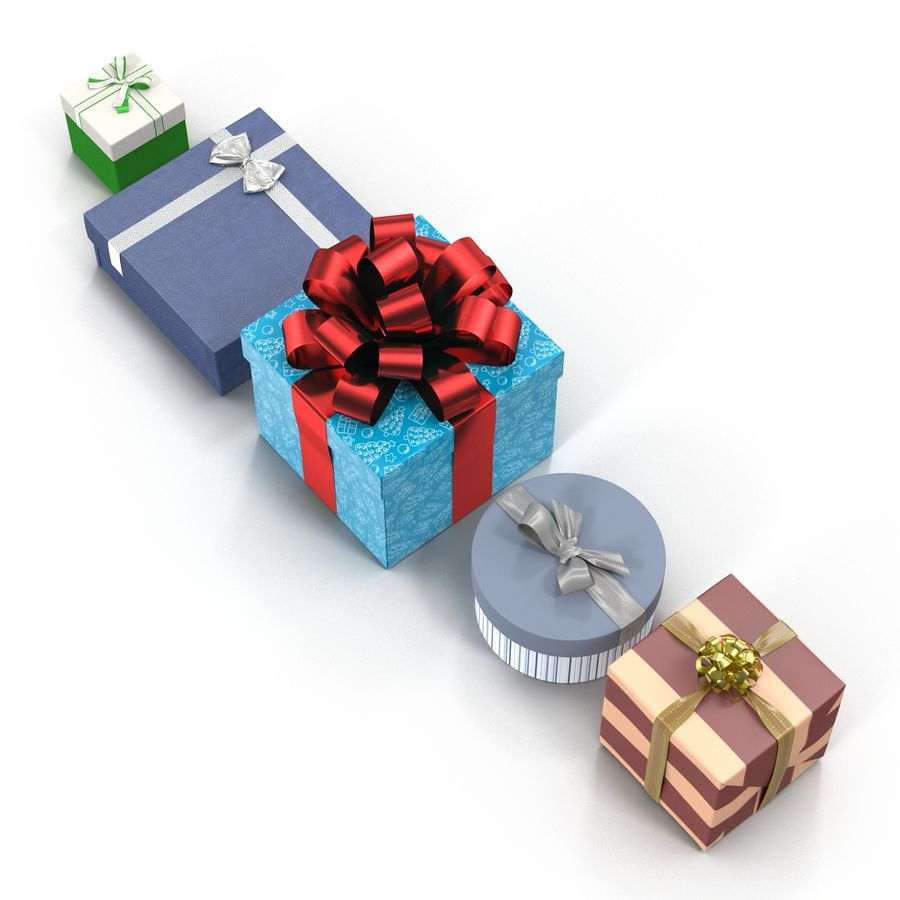 Geschenkboxen-Auflistung royalty-free 3d model - Preview no. 5
