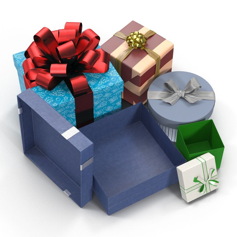 Geschenkboxen-Auflistung royalty-free 3d model - Preview no. 10