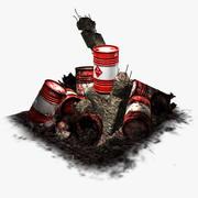 最後の樽-爆発的な赤 3d model