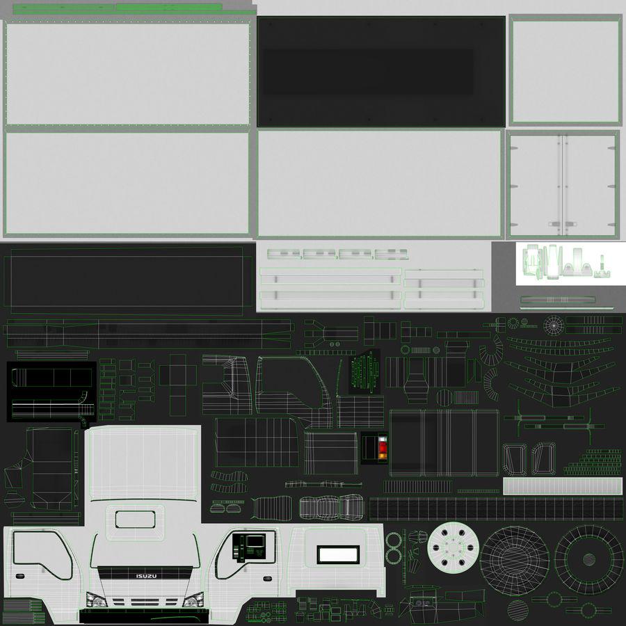 Isuzu Truck royalty-free 3d model - Preview no. 4