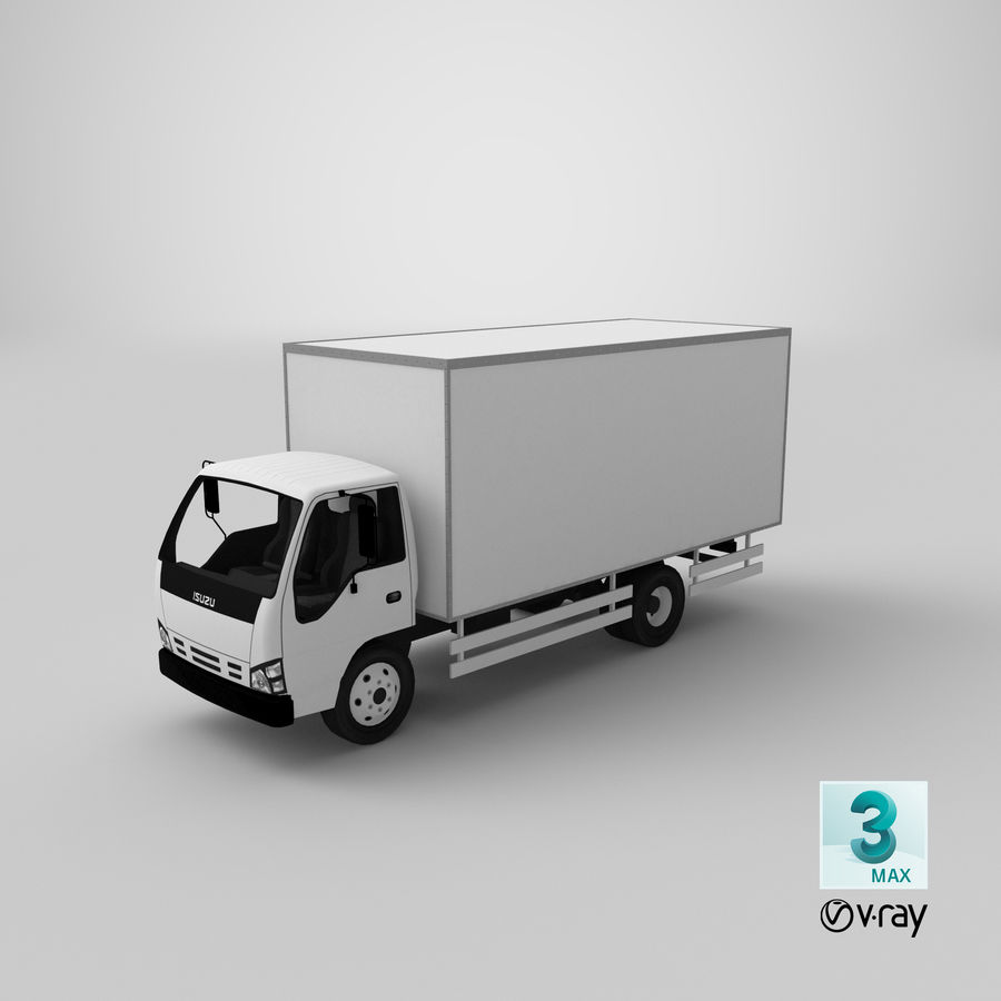 Isuzu Truck royalty-free 3d model - Preview no. 20