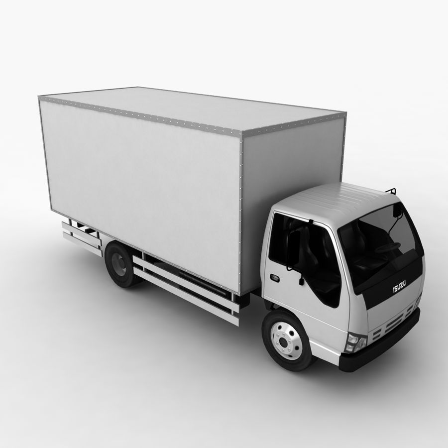Isuzu Truck royalty-free 3d model - Preview no. 6