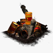 The Last Barrel - Orange explosif 3d model